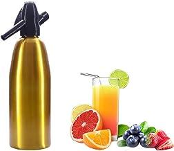 DYJD Soda Siphon Maker, Bouteille de Seltzer portable Eau gazeuse maison Machine à boissons pétillantes 1 L (or)