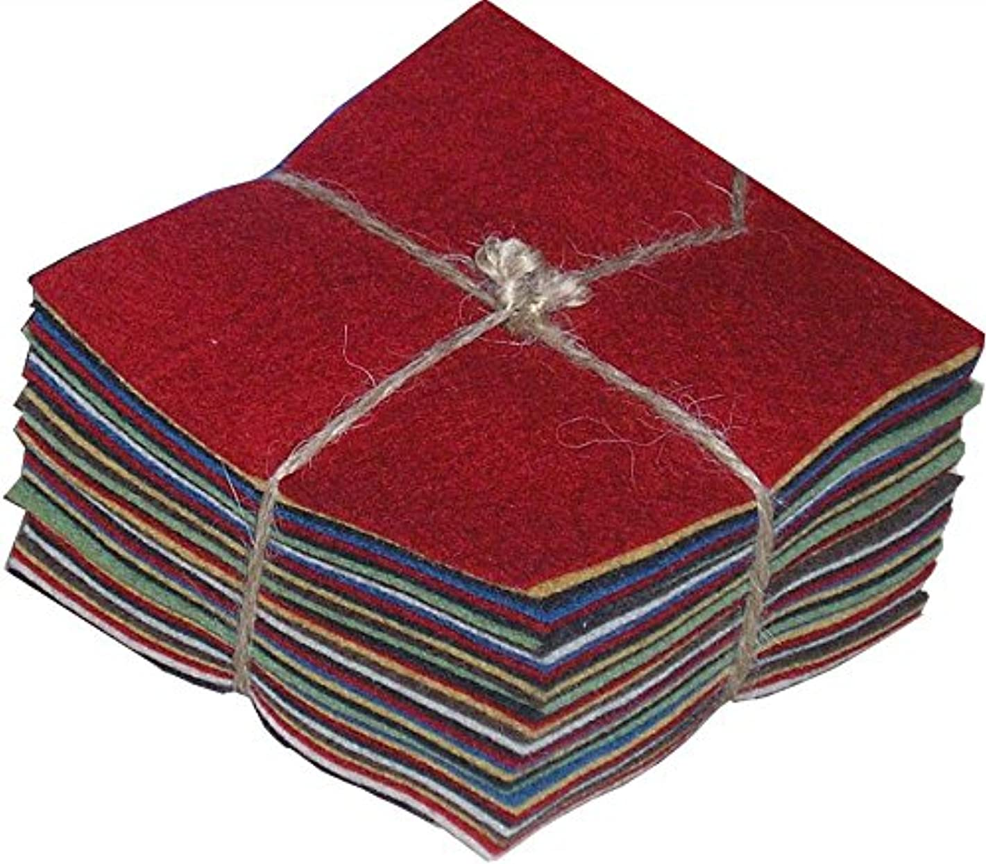 National Nonwovens 100% Wool Felt Homespun Charm Pack
