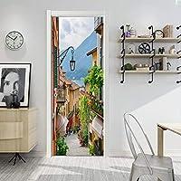 QWEFGDF ドアステッカーデコレーション ファッショナブルなモダンな家のインテリアの剥離可能なドアのステッカーの装飾 76x203 cm 階下の街灯