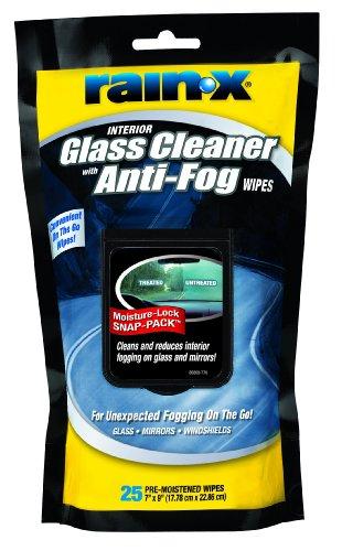 Rain-X 5077368 Glass Cleaner with Anti-Fog Wipes