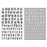 Bfmyxgs Ultradünne selbstklebende handschriftliche englische Buchstaben schwarz und weiß Laser Gold und Silber Nagel liefert Nagelsticker