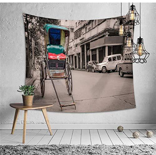Tapis mural Mandala Tapisserie Tenture murale Tapis Chambre Salon Tête de lit Décor Polyester Tapisserie Murale Tapis De Yoga Ville 200 * 150 Cm