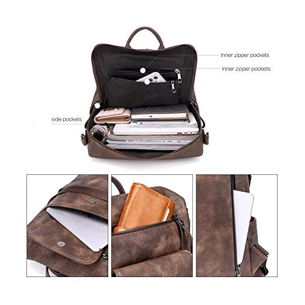 CLUCI Backpack Purse for Women Fashion Leather Designer Travel Large Convertible Ladies Shoulder Bags 4