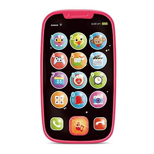 Mi Primer Smartphone – Teléfono Celular Infantil De Juguete – 15 Botones y Funciones Únicas, Melodías Musicales, Sonidos De Animales y Aprendizaje De Números - para Niños De 1 Año Y en Adelante