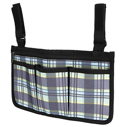 Hängende Tasche, Multifunktions-Rollstuhl-Multipocket, für verschiedene Geldbörsen(Blue plaid)
