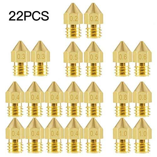 Arichtop 22 PC/Set Impresora MK8 Boquilla Cabezal