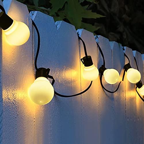 oven Lampade Solare all'aperto luci Impermeabili LED Decorative Decorative, luci solari a Stringa a energia Solare per Albero Esterno Garden Patio (Emitting Color : White, Wattage : 5M 20 Bulbs)
