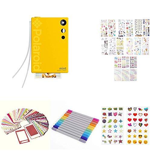 Polaroid Mint Cámara Digital de impresión instantánea, Amarillo + Paquete de Inicio