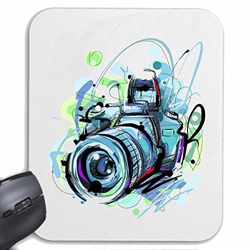 Mousepad (Mauspad) FOTOAPPARAT DIGITALKAMERA FOTOGRAFIE FOTOMODELL RETRO KAMERA FOTOAPPARAT DIGITALKAMERA FOTOGRAF FOTOSTUDIO UNTERWASSERKAMERA SPIEGELREFLEXKAMERA für ihren Laptop, Noteboo