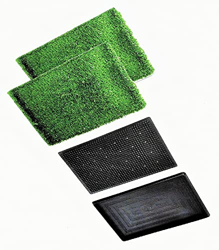 Companion Paw - Puppy Potty Training Tray with Two Artificial Grass mats for Indoor Pets in Apartments or no Yard. May Also be Used Outdoors.