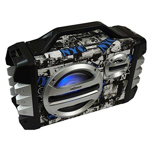 Altavoz portátil NEGRO BLUETOOTH, función KARAOKE, incluye micrófono, 20W+5W GO-ROCK GR-WSK300