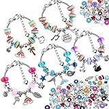 85 Pcs Charm Bracelet Making Kit, Acejoz DIY Charm Bracelets Beads for Girls Ages 7~12, Adults and Beginner Jewelry Making Kit