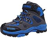 Botas de Senderismo Zapatos de Algodón Botas para la Nieve Botas de Invierno para Unisex Niños, 26 EU, 1 Azul