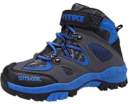 Chaussures en Coton pour Enfants Bottes de Neige d'hiver Garçon Fille Antidérapantes Bottes, 35 EU, 1 Bleu