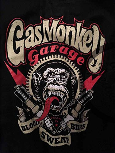 Gas Monkey Garage Oficialmente Licenciado 04-Wings Baseball Sudaderas con Capucha