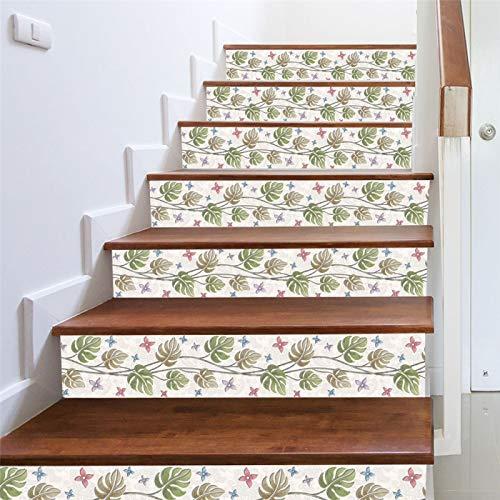 Pegatinas De Escalera Simples Y Creativas Personalidad Hogar DIY Pegatinas De Pared Diseño De Escalera PVC Pegatinas De Pared Decorativas Impermeables