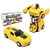 CYKT kids Robot Toy 2in1 Transforming Car, Toddler Toy Car For Boys And Girls Aged 2-5, The Best Birthday for Boys Aged 3-6