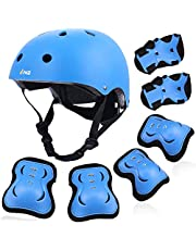 PHZ. Kids Helmet Toddler Elbow Knee Wrist Pads 3-10 Years Child Boy Girl Adjustable Protective Gear Set CPSC Certified Helmet for Muti-Sports Cycling Skateboard Roller Scooter
