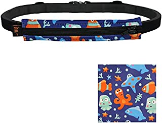 Kids Diabetic Belt, No-Bounce Discreet T1D Medical Belt, Hole for Insulin Pump, EpiPen or Other Medical Devices, Made in USA for Boys and Girls, Adjustable One Size, Expandable Pouch