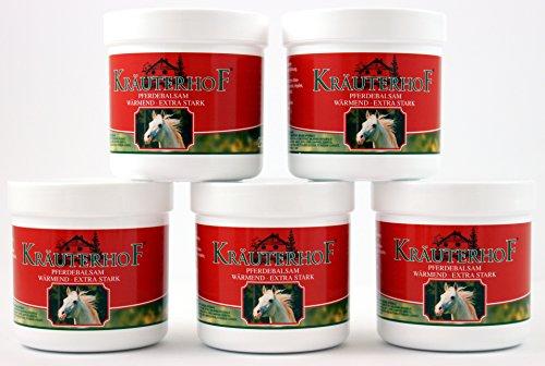 Baume de cheval Kräuterhof - Crème chauffante extra forte - 250 ml