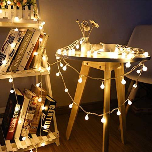 Led-snoer licht 1,5 m 3 m 6 m kersenbol-fee-slinger verlicht op batterij-aangedreven bruiloft/kerst/tuin/buiten/woonkamerdecoraties (warm wit)