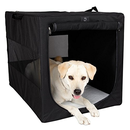 """A4Pet 36"""" Collapsible Soft Large Dog Crate"""