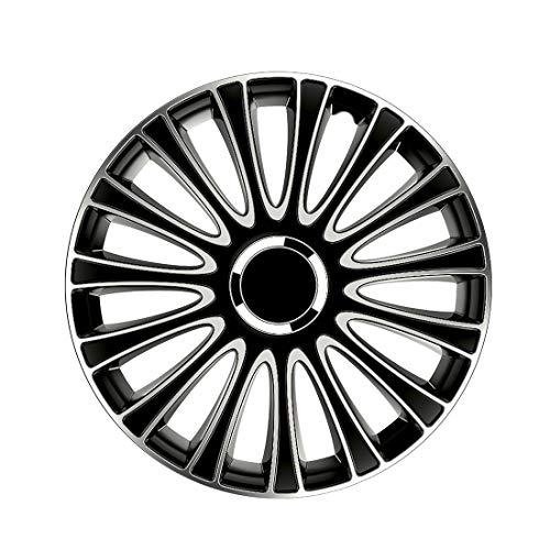 """Petex LeMans Pro. 2-fach lackiert. Material: ABS. Farbe: Schwarz. 16\"""" Zoll. (4 x Universal Radzierblenden/Radkappen)"""