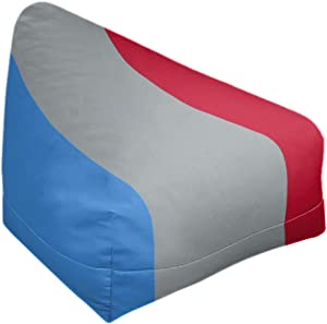 ArtVerse NFS Tennessee Red Football Stripes Bean Bag Cover w/Inner Shell (No Fill), 27 x 30 x 25, Blue Side and Gray Mid