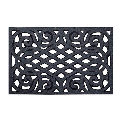 Nicoman Felpudo Antideslizante Respetuoso con el Medio Ambiente, 75 x 45 cm, Caucho, Gris (Drainage), 75x44cm (29.5x17.3 Inches) Medium