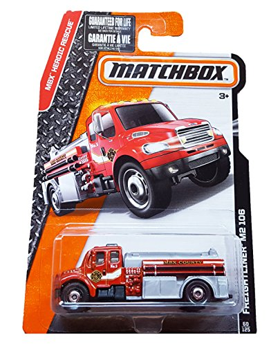 Matchbox, 2016 MBX Heroic Rescue, Freightliner M2 106 Fire Truck [Red] 60/125