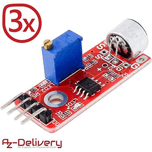 AZDelivery 3 x Hochempfindliches Mikrofon Mikrophon KY-037 für Arduino inklusive eBook!