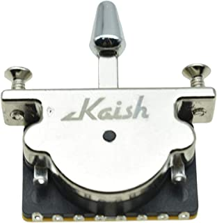 KAISH Heavy Duty 5 Way Guitar Pickup Lever Switch Guitar Pickup Selector Switch for Strat Tele with Plastic Chrome Tip