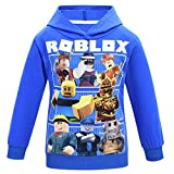 Thombase Kids Boys GURKEY Funnel Vision Family Gaming Team T-Shirts (Hoodie-blue1, 140(7-8years))