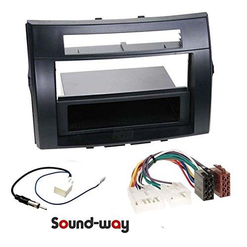 Sound-way 1 DIN / 2 DIN Radiopaneel Frame Autoradio, Antenne Adapter, ISO Aansluitkabel, ondersteuning voor Toyota Corolla Verso