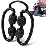 M MILY SPORT Massage Roller, Leg Rollers for Muscles Foam Roller Massager Muscle Roller for Legs, Arm Myofascial Fascial After Workout Exercise Muscle Soreness Pain Relieve (Black)
