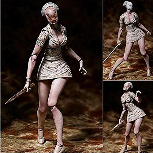 Demonqin Tronzo Horrorfilm Actionfiguren Silent Hill 2 Scary Bubble Head Krankenschwester Bewegliche PVC-Figur Sammlung Modell Spielzeug