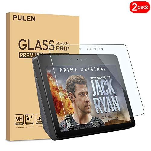 PULEN [2Pezzi Amazon Echo Show 2Pellicola Protettiva, qualità Premium 9H durezza Vetro temperato [Anti-graffio] [Ultra Clear] 2.5d, Pellicola Protettiva Trasparente per Amazon Echo Show 2