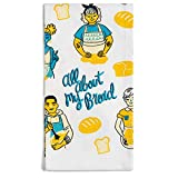 Lavley Funny Decorative Colorful Accent Kitchen Dish Towels, All About My Bread - Gift for Baker Women