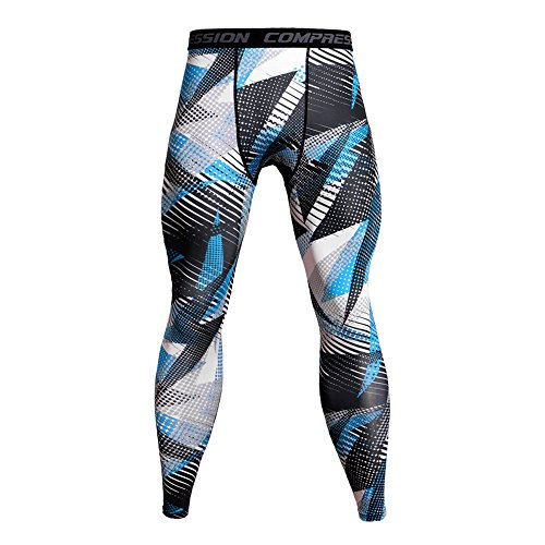 Celucke Sport Leggings Herren Strumpfhose Camouflage Klassisch Laufhose Pro Cool Compression Tights Funktionswäsche Quick Dry Kompression Hose für Fitness Gym Joggen