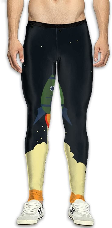 Dfdffrfrwqq Rocket Space Stars Men's Active Basic Athletic Skinny Track Pants