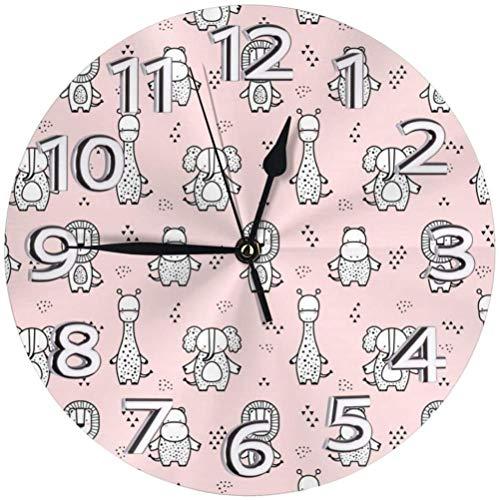 AZHOULIULIU Co.,ltd Decoración Infantil de Relojes de Escritorio de Animales de Elefante para la Personalidad de la guarida de la Escuela precisa