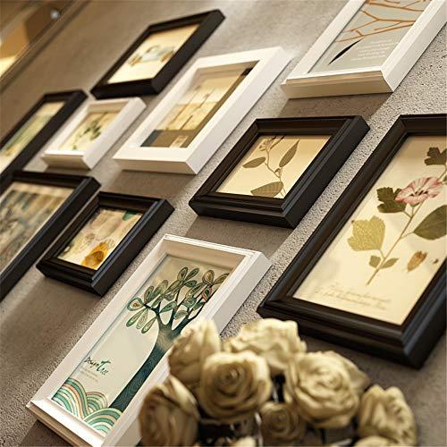 Europese Stijl Effen Hout fotolijst Muur Set Vierkante Strip Multi Foto Frames Collage Vintage Zwart Wit Fotobehang Frame Sets Voor Feature Muur Voor Thuis Etc