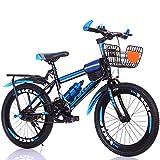 JH Las Bicicletas De Los Niños, (18-22 Pulgadas) Bicicletas De Montaña Bicicletas De 6-12 Años Niños De Bicicletas Niños Mayores Niños De La Escuela Primaria De Bicicletas De Montaña,Azul,20inches