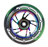 Team Dogz 1 X 100mm Rainbow Tourbillon Alliage Cascade Roue de Trottinette avec Mélangé 88A PU...