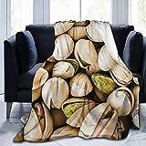 Manta Ultra Suave, Manta de Microfibra de Lana, Manta de sofá cálida y acogedora, Manta de sofá, Manta de impresión 3D para Sala de Estar, Dormitorio, decoración de Dormitorio, Pistacho