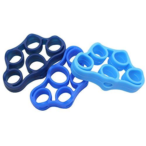 Hysagtek Finger-Trainingsband, für Rehabilitation, Unterarmübung, Gitarren-Finger und Klettern, 3verschiedene Stufen, 3 Stück