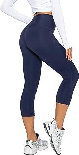 LAPASA Legging avec Poches Capri/Pantacourt de Sport Femme 3/4 Coupe Genoux Amincissant - Yoga Fitness Jogging Gym L02
