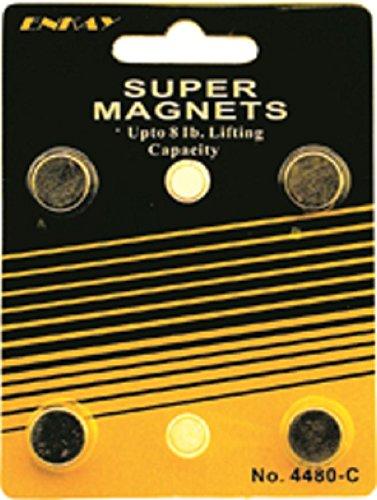 Enkay 4480-C 8-Pound Super Magnet, Carded, 4-Piece