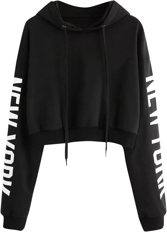 felwors Womens Crop Tops Hoodies, Womens Casual Loose Tie Dye Pullover Tops Long Sleeve Workout Sweatshirt Hoodies