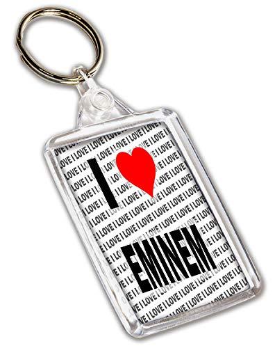 Llavero con texto'I Love Eminem', regalo de cumpleaños,...